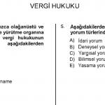 HUK401U – vergi hukuku soru ve cevapları