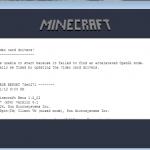 Minecraft Bad Video Card Drivers Hatası 2