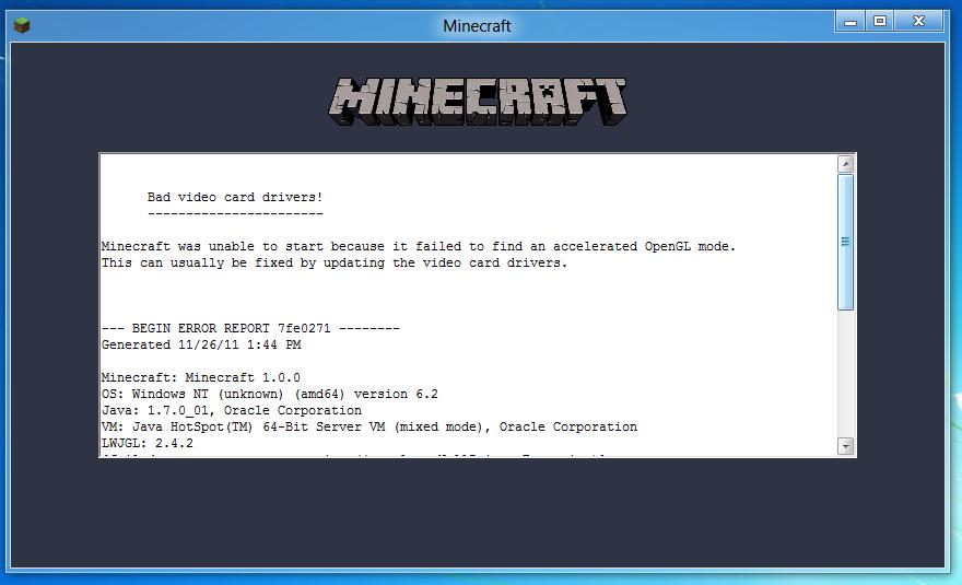 Minecraft Bad Video Card Drivers Hatasından Kurtulun