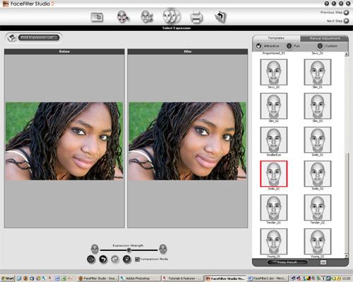 adobe photoshop cs2 face filter efekti