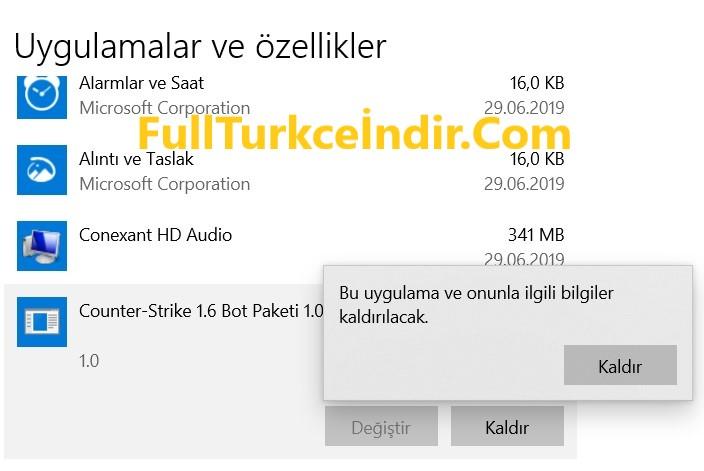 Counter Strike 1.6 Bot Paketi Silme
