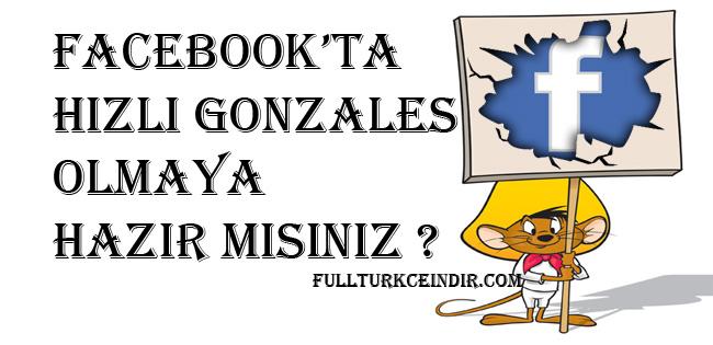 Gonzalesler için facebook klavye kısayolları
