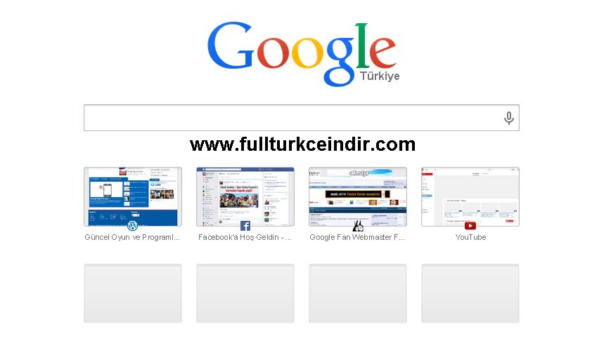 google chrome yeni sekme sayfası