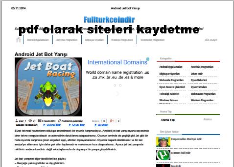 İnternet Sitelerini Pdf Formatında Kaydetmek