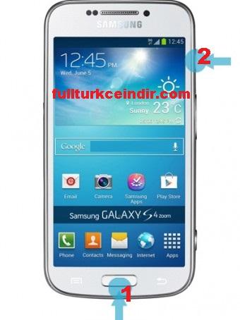 Samsung s5 ekran görüntüsü nasıl alınır?