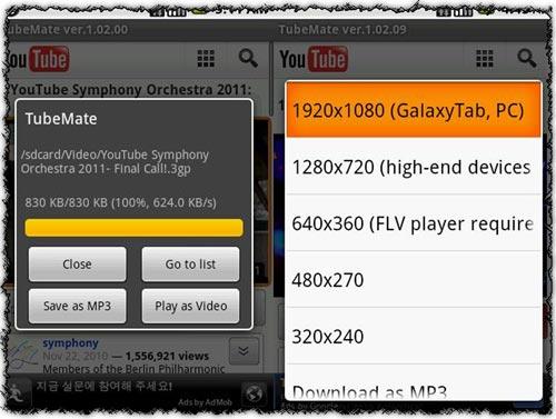 tubemate android video indirme programı