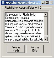 usb flash disk koruma ekleme ve kaldırma