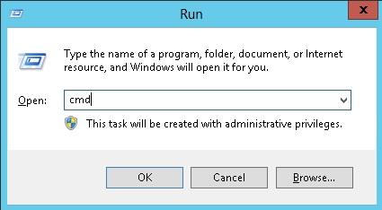 windows 8 orjinal yapmak için cmd açıyoruz