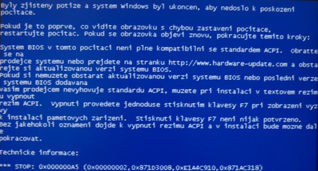0x000000a5 Mavi Ekran Hatası Çözümü
