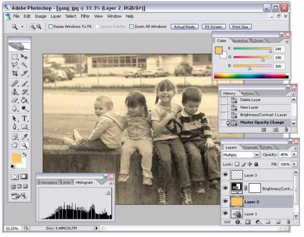 Adobe photoshop cs2 nostalji efekti