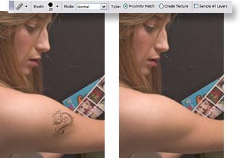 Adobe photoshop cs2 silme ve temizleme efekti