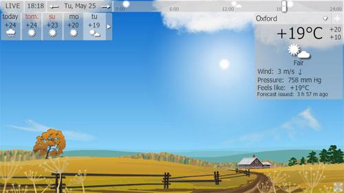 Hava durumu ekran koruyucusu indir