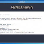 Minecraft Bad Video Card Drivers Hatasından Kurtulun