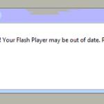 WARNING! Your Flash Player may be out of date hatası çözümü