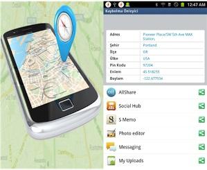 Android kaybolma önleyici uygulaması