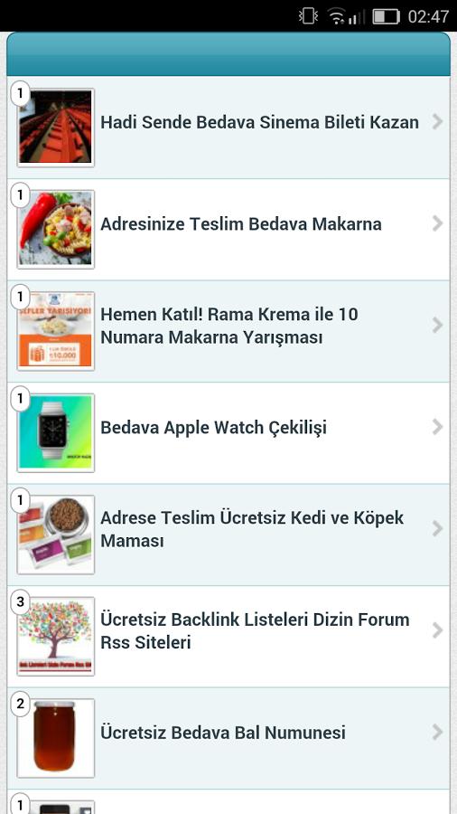 Uygulamaya eklenen en son ücretsiz promosyon numuneleri