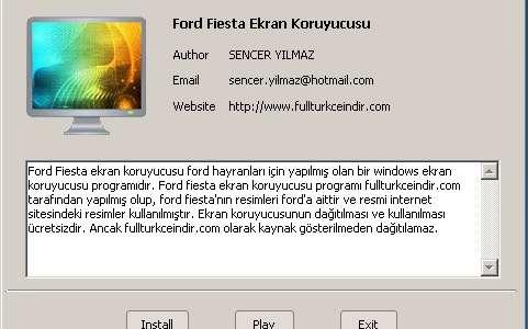 Ford Fiesta Ekran Koruyucusu