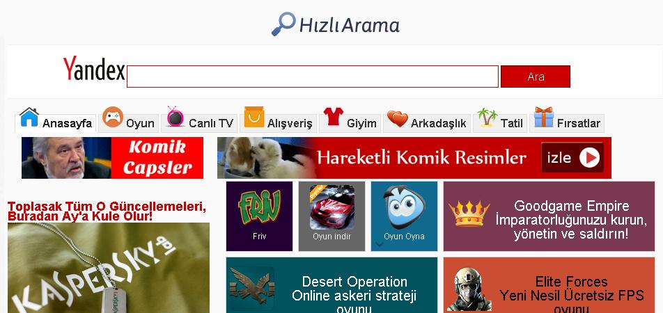 Hizliarama.com nasıl kaldırılır ? işte çözümü