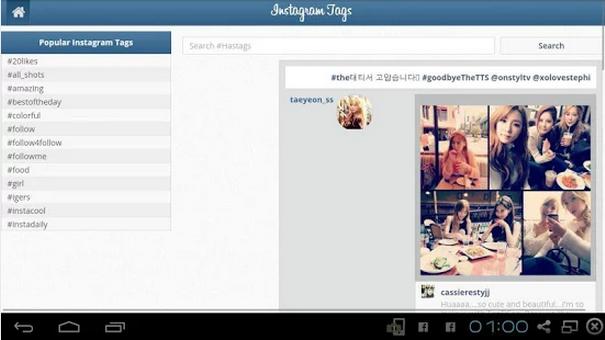 Android popüler Instagram etiket bulma uygulaması