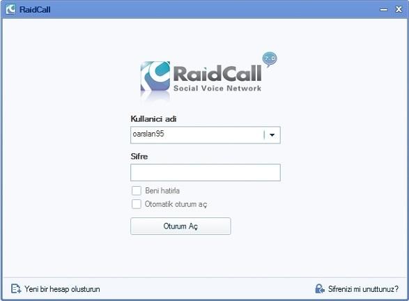 Raidcall Türkçe yama indir