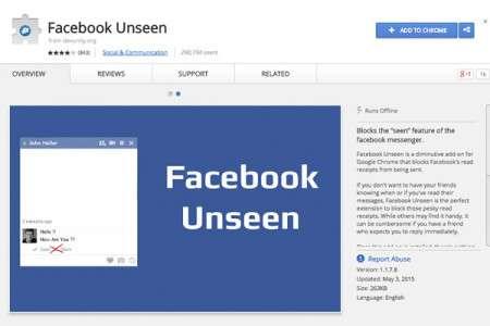 """Facebook Unseen İle """"Görüldü"""" Bildirimini Yok Edebilirsiniz"""
